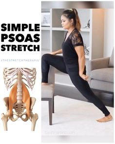 Hip Flexor Exercises, Back Pain Exercises, Toning Exercises, Muscle Stretches, Hip Stretches, Pilates, Lagree Fitness, Yoga Fitness, Psoas Stretch