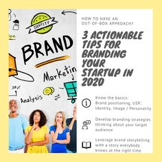 3 Actionable Tips for Branding Your Startup in 2020 1) Know the basics: Brand positioning, USP, Brand Identity, Brand image / personality 2) Develop branding strategies thinking about your target audience 3) Leverage brand storytelling with a story everybody knows at the right time  #branding #marketing #graphicdesign #design #logo #brand #digitalmarketing #business #socialmedia #advertising #graphicdesigner #socialmediamarketing #designer #logodesign #entrepreneur #logodesigner… Social Media Marketing, Digital Marketing, Branding Strategies, Coworking Space, Target Audience, Brand You, Brand Identity, Storytelling, Entrepreneur