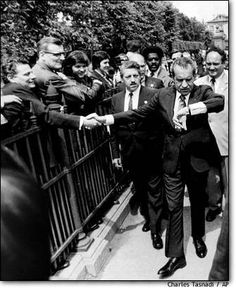 Nixon meeting the public (not one of our most caring Presidents)