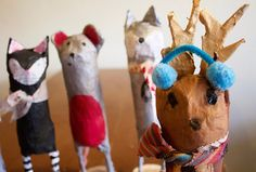 Purple Twig: Paper Maché Animals