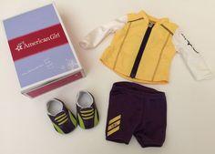 American Girl Cycling Outfit MYAG New Box Bicycle Biking  | eBay