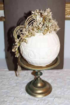 *** Gorgeous French Wax Tiara *** ca.1890 Headpiece Crown ANTIQUE ~ Must SEE !!!