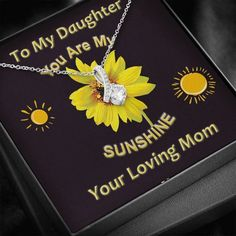 My Daughter, You Are My Sunshine Necklace | Daughter Birthday, Christm – ShineOn.com