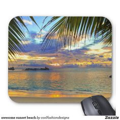 awesome sunset beach mouse pad
