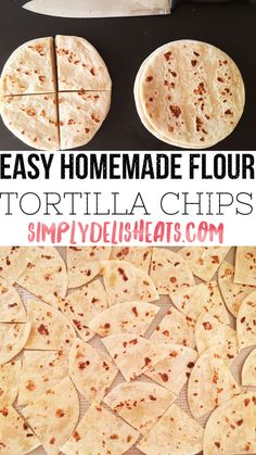Made with low-carb tortillas for keto: 20 minute, easy baked sea salt tortilla chips! No Carb Recipes, Healthy Low Carb Recipes, Low Carb Dinner Recipes, Mexican Food Recipes, Cooking Recipes, Dessert Recipes, Diet Recipes, Protein Recipes, Mexican Dishes