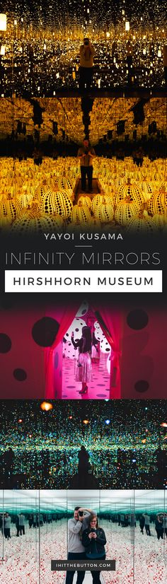 Yayoi Kusama Infinity Mirrors at the Hirshhorn in Washington DC // ihitthebutton.com