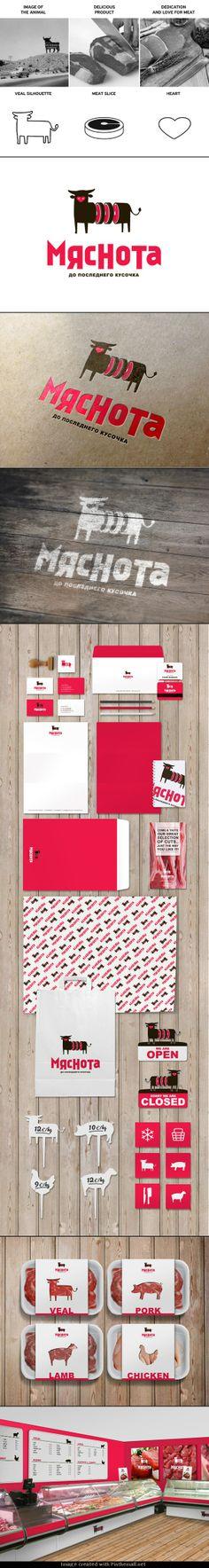 Мяснота: a butcher shop. Great meat #identity #packaging #branding PD - created via https://www.behance.net/gallery/mjasnota-a-butcher-shops-identity/12374247
