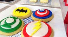 Image result for superhero cookies