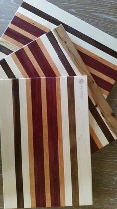 Captivating Maple, Walnut, Cherry, And Purpleheart Cutting Boards.