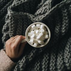 I like lots and lots of marshmallows in my hot chocolate.