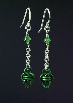 These Sterling Silver Chainmaille Earrings are a great way to show off your jewelry making skills! You will give them or wear them with pride