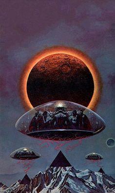 The Science Fiction Gallery Arte Sci Fi, Sci Fi Art, Space Fantasy, Sci Fi Fantasy, Fantasy Images, Art Alien, Art Science Fiction, Classic Sci Fi, Aliens And Ufos