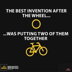The best invention after the wheel was putting two of them together ! / La meilleure invention après la roue a été d'en mettre deux ensemble !