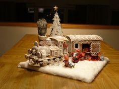 Bilderesultat for gingerbread train template