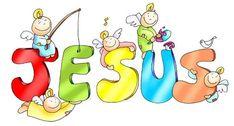 Kamiano » El nombre de Jesús Jesus Cartoon, Sunday School Kids, Bible Crafts For Kids, In God We Trust, Jesus Pictures, Cool Cartoons, Illustrations And Posters, Disney Characters, Fictional Characters