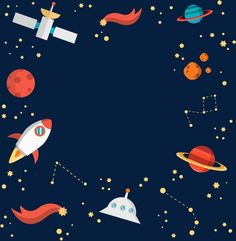 Space Party, Space Theme, Space Baby Shower, Astronaut Party, Memo Notepad, Space Artwork, Space Illustration, Cute Notes, Kawaii Wallpaper