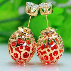 14k gold Double Plug earringsStud EarringsDrop by FashionCounter6