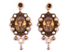 Guarda questo articolo nel mio negozio Etsy https://www.etsy.com/it/listing/507410259/orecchini-mosaico-bizantini-dorati