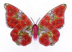 Pohutukawa NZ Butterfly Fridge Magnet