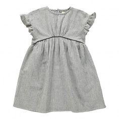 Victoire Striped Dress Noir  Louis Louise
