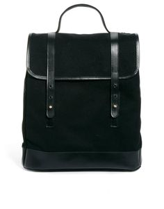 ASOS Canvas Backpack with Leather Trim | $71 | gifts for men | mens backpack | mens style | mens fashion | wantering http://www.wantering.com/mens-clothing-item/asos-canvas-backpack-with-leather-trim/aaFcB/
