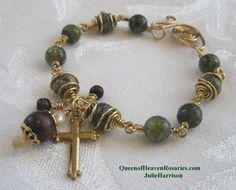 Unbreakable rosary bracelet. $35.00, via Etsy.