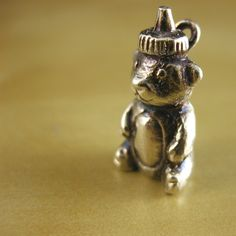 Honey Bear Sterling Silver Charm  Squeeze Me by Baublefish on Etsy, $47.00