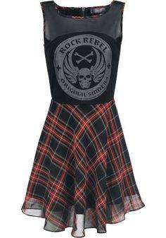 Checked Skater Dress - Short dress by Rock Rebel by EMP