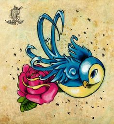 34 Ideas Tattoo Old School Bird Deviantart Tattoo Old School, Dibujos Tattoo, Desenho Tattoo, Golondrinas Tattoo, Bird Tattoo Foot, Tattoo Casal, Swallow Bird Tattoos, Tatuagem New School, Bird Sketch