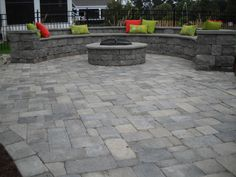 Fire Pit and Retaining Wall