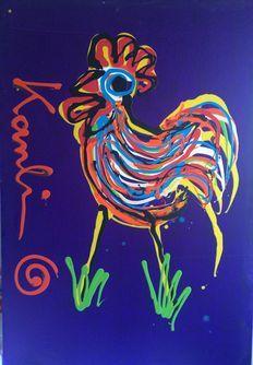 Jacob Kanbier - Haan (groot) Rooster, Moose Art, Painting, Animals, Kunst, Animales, Animaux, Painting Art, Paintings