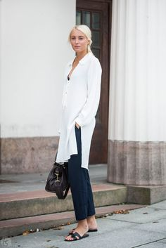 Tunic and pants from Zara, bag from Balenciaga and sandals from Hermés