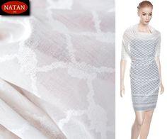 Tkanina batyst bawełna - 100%cotton biały wzór