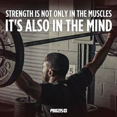 Your mind is stronger than your body!  #Prozis #ExceedYourself #Mind #Body #Motivation #Muscle #Strength #inspiration