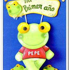 Sapo Pepe de goma eva o fibro fácil paso a paso. Moldes del Sapo Pepe. Manualidades Sapo Pepe de goma eva.