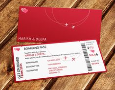 """Check out new work on my @Behance portfolio: """"Wedding Invitation - Air Ticket Theme"""" http://on.be.net/1IlCxwa"""