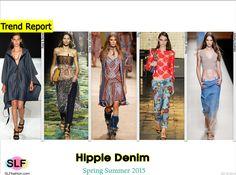 Trendy Style of Denim for Spring Summer 2015:Hippie Denim. Rag and Bone, Dries Van Noten, Etro,House of Holland, and Alberta Ferretti #Spring2015 #SS15 #Fashion