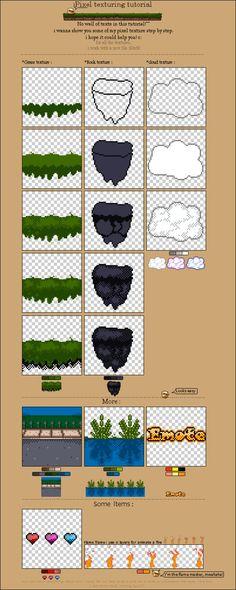 pixel texturing tutorial by MenInASuitcase
