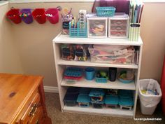 the journals of a Laura Ingalls wannabe: Newest Indoor Art Supply Storage