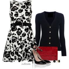 Get Inspired by Fashion: Rose Print Dress Estilo Fashion, Look Fashion, Ideias Fashion, Fashion Outfits, Womens Fashion, Workwear Fashion, Spring Summer Fashion, Spring Outfits, Work Outfits