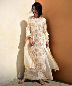 Buy Ethereal Equations Smriti Gupta Embroidered Chanderi-cotton kurtas, silk pants and more Online at Jaypore.com