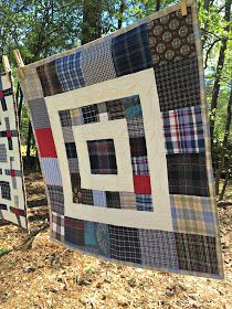 Sewing Block Qults Studio Dragonfly: Five Small Memory Quilts Best Picture For patchwork quilting applique For Your Taste You are looking for something, and it is going to tell you exactly what you ar Flannel Quilts, Plaid Quilt, Scrappy Quilts, Easy Quilts, Shirt Quilts, Patchwork Quilting, Big Block Quilts, Quilt Blocks, Memory Pillows