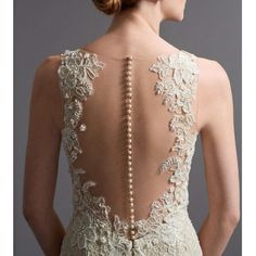 #weddingwednesday inspiration - love the romantic pearl back of this gown. Photo credit @watterswtoo