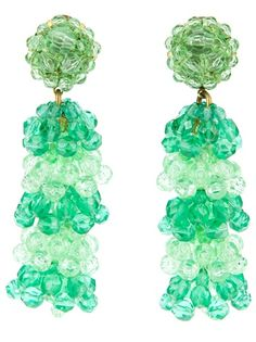 Coppola E Toppo Vintage - crystallized drop earrings