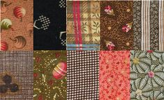 Quilt History fabric swatches