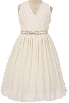 Girl&-39-s Us Angels Sleeveless Chiffon Dress - Little girls ...