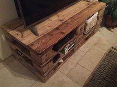 DIY Personalized Pallet TV Stand | Pallet Furniture DIY