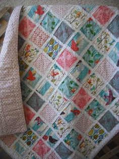 Fray Edge Quit ( It's a hoot fabric)  maybe one day I will learn how to do this love it!
