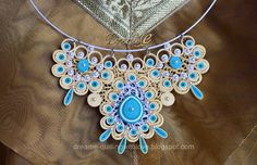 DreaMe - quilled jewelry in turquoise
