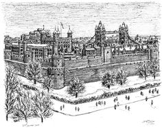 The Tower of London - My favorite place in London. The artist, Stephen Wiltshire has autism.